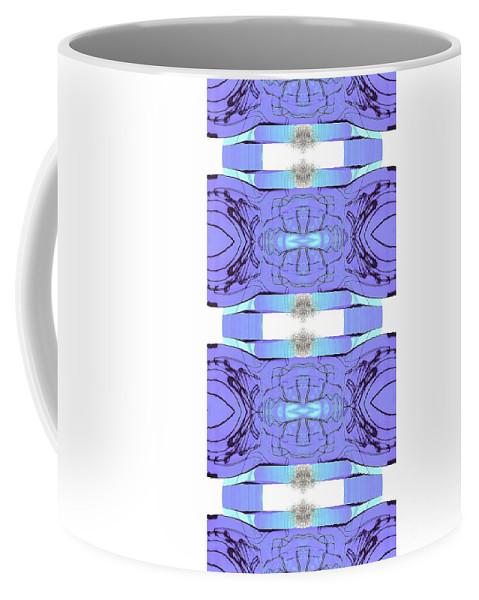 Abstract Coffee Mug featuring the digital art Diamonds Lilac by Elisabeth Skajem Atter