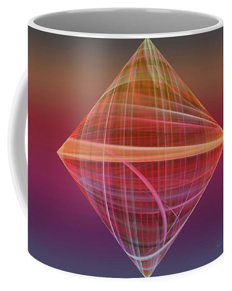 Fractal Coffee Mug featuring the photograph Diamond Ripple by Deborah Benoit