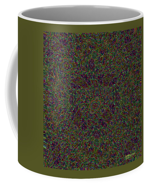 Abstract Coffee Mug featuring the digital art Diamond Tile Insanity by Diane Parnell