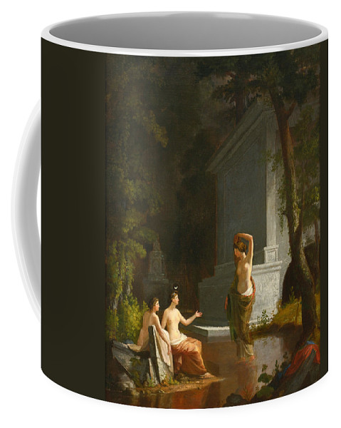 Samuel Finley Breese Morse Coffee Mug featuring the painting Diana At The Fountain by Samuel Finley Breese Morse