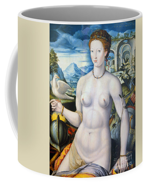 1570 Coffee Mug featuring the painting Diane De Poitiers (1499-1566) by Granger
