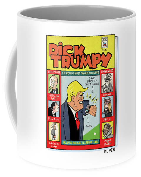 The Misadventures Of Dick Trumpy Coffee Mug featuring the drawing Dick Trumpy by Peter Kuper