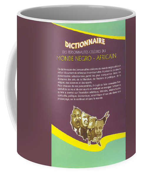 Dictionary Coffee Mug featuring the painting Dictionary Of Negroafrican Celebrities 2 by Emmanuel Baliyanga