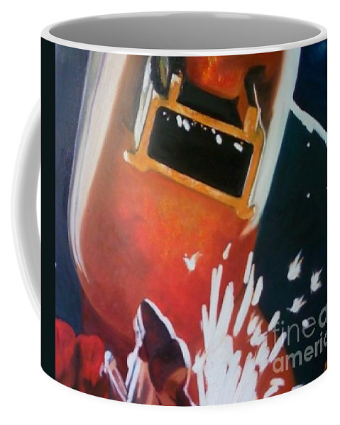 Welder Paintings Coffee Mug featuring the painting Dida by Annalise Kucan