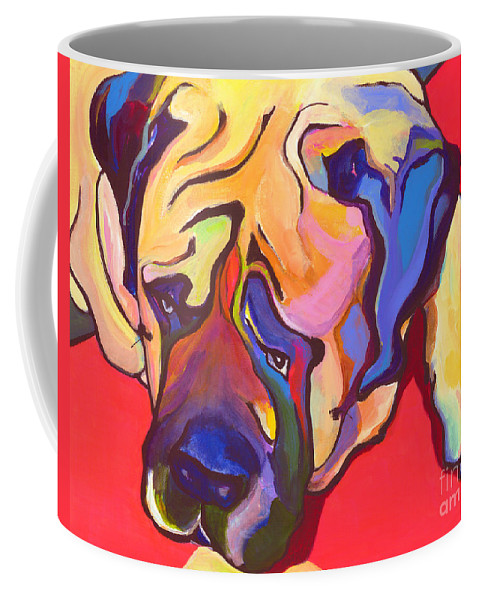 Mastiff Coffee Mug featuring the painting Diesel  by Pat Saunders-White