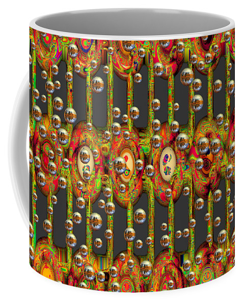 Art Coffee Mug featuring the digital art Different Worlds by Hendrik Arie Baartman
