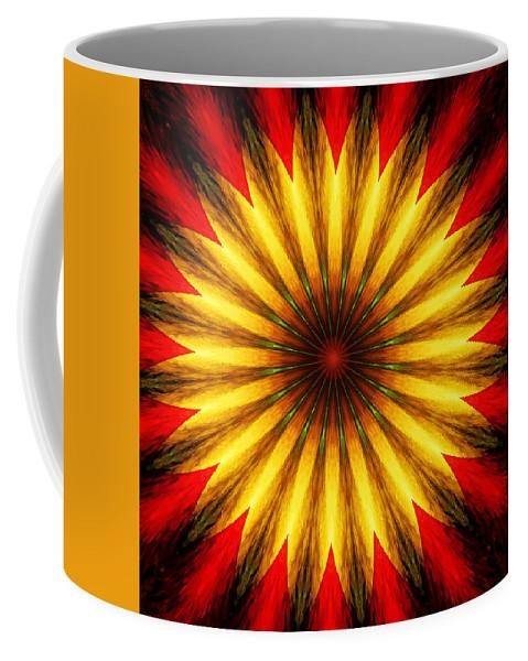 Floral Coffee Mug featuring the digital art Digita Doodle 012211 by David Lane