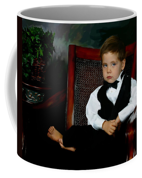Painting Coffee Mug featuring the digital art Digital Art Painting Of My Son by Anthony Jones