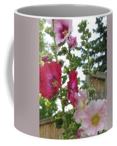 Digital Artwork Coffee Mug featuring the digital art Digital Artwork 1410 by Maureen Lyttle