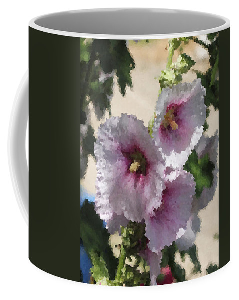 Digital Artwork Coffee Mug featuring the digital art Digital Artwork 1414 by Maureen Lyttle