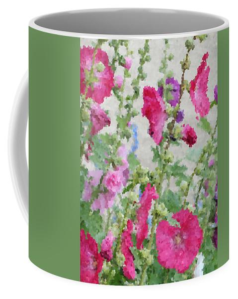 Digital Artwork Coffee Mug featuring the digital art Digital Artwork 1417 by Maureen Lyttle