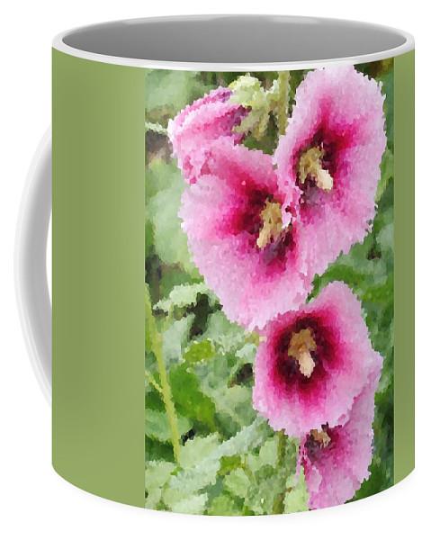 Digital Artwork Coffee Mug featuring the digital art Digital Artwork 1422 by Maureen Lyttle