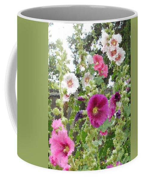 Digital Artwork Coffee Mug featuring the digital art Digital Artwork 1424 by Maureen Lyttle