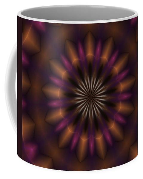 Fine Art Coffee Mug featuring the digital art Digital Doodle 110610a by David Lane