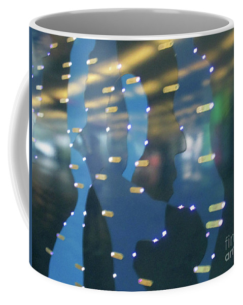 Profile Coffee Mug featuring the photograph Digital Faces by Randall Weidner