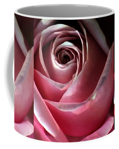 Rose Coffee Mug featuring the photograph Dimming Rose by Angelina Tamez