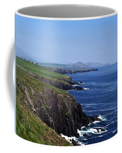 Irish Coffee Mug featuring the photograph Dingle Coast Near Fahan Ireland by Teresa Mucha