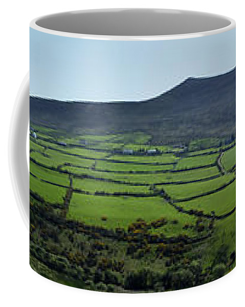 Irish Coffee Mug featuring the photograph Dingle Peninsula Panorama Ireland by Teresa Mucha