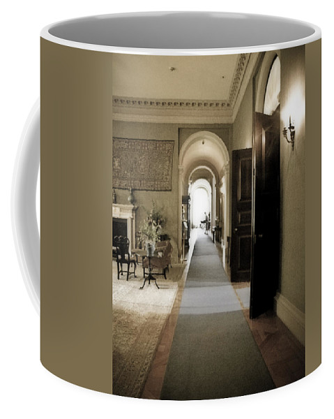 Mansions Coffee Mug featuring the photograph Dinner Is Serve4d by Karen W Meyer