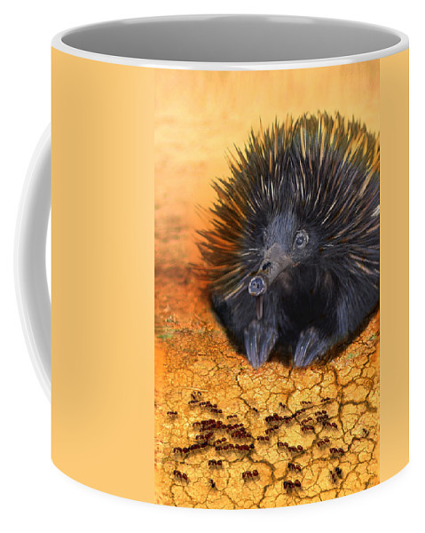 Animal Coffee Mug featuring the photograph Dinner Time by Holly Kempe