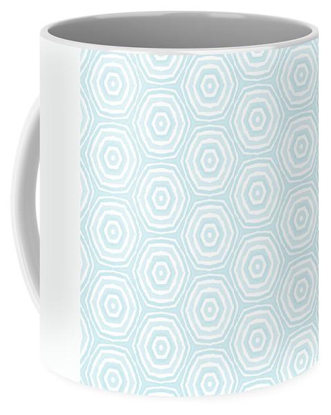 Circles Coffee Mug featuring the digital art Dip In The Pool - Pattern Art by Linda Woods by Linda Woods