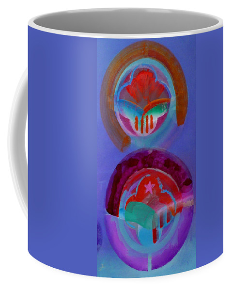 Logo Coffee Mug featuring the painting Diptych by Charles Stuart