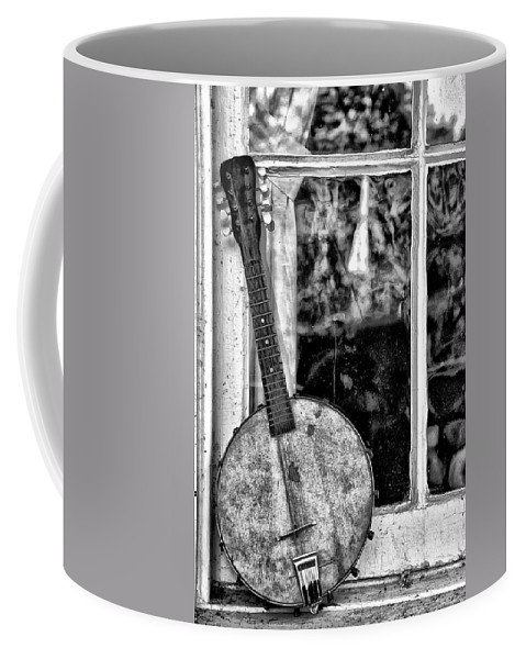 Dirty Coffee Mug featuring the photograph Dirty Banjo Mandolin by Bill Cannon