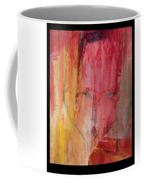 Abstract Coffee Mug featuring the painting Disconnected by Patricia Byron