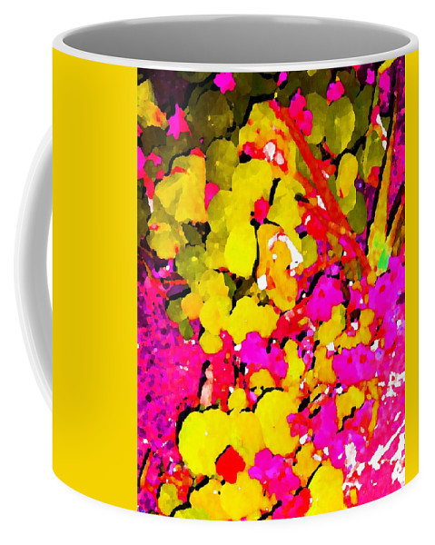 Flowers Coffee Mug featuring the digital art Discovering Joy by Winsome Gunning
