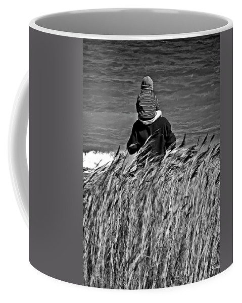 Discovery Coffee Mug featuring the photograph Discovery Bw by Steve Harrington