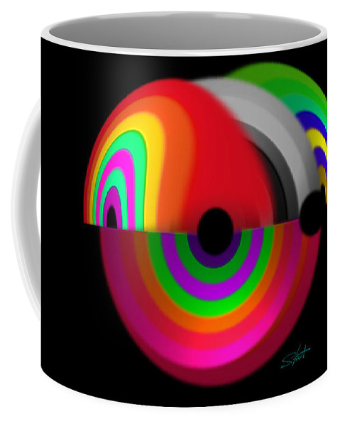 Discus Coffee Mug featuring the digital art Discus by Charles Stuart