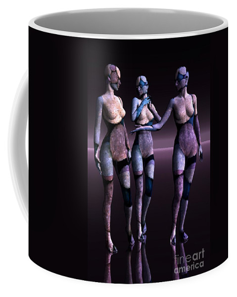 3d Coffee Mug featuring the digital art Discussion by Issabild -