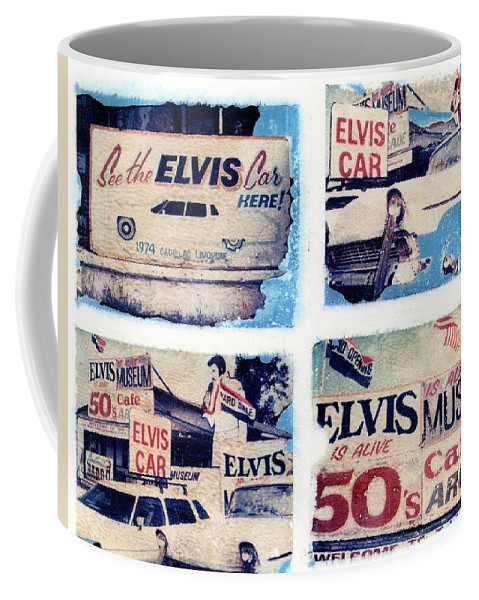 Elvis Coffee Mug featuring the photograph Disgraceland by Jane Linders