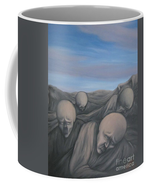 Tmad Coffee Mug featuring the painting Dismay by Michael TMAD Finney