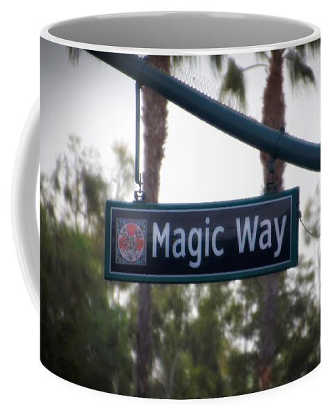 Disney Coffee Mug featuring the photograph Disneyland Magic Way Street Signage by Thomas Woolworth