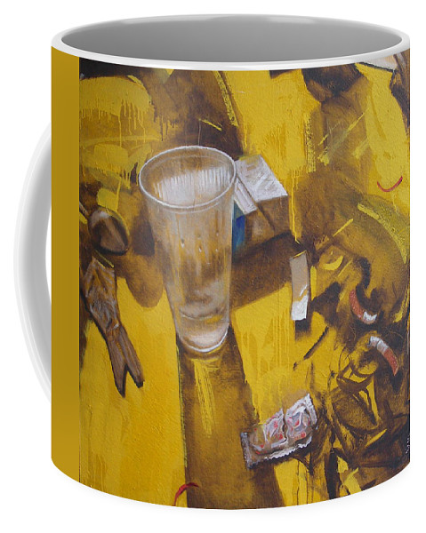 Disposable Coffee Mug featuring the painting Disposable by Sergey Ignatenko