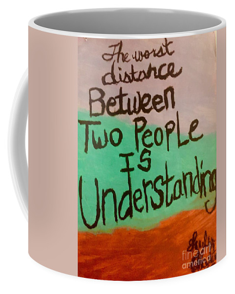 Quotes Coffee Mug featuring the painting Distance Quote by Shylee Charlton