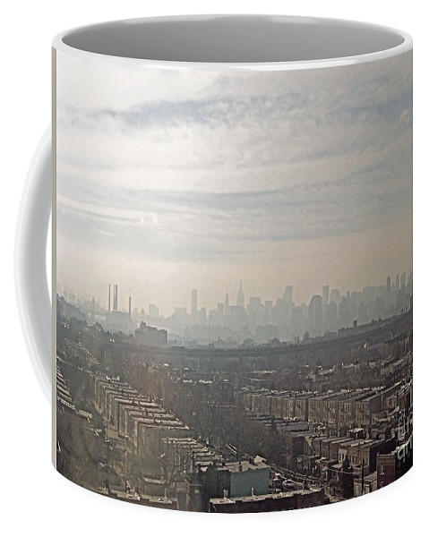 Brooklyn Coffee Mug featuring the photograph Distant City by Paulette B Wright