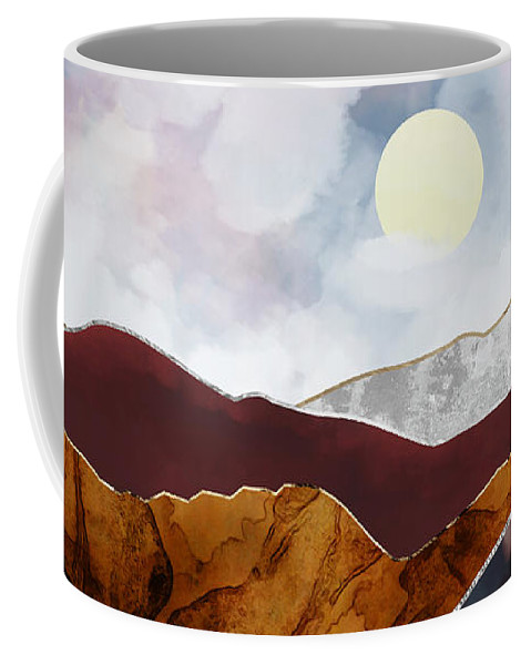 Light Coffee Mug featuring the digital art Distant Light by Katherine Smit