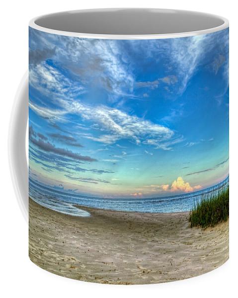 Beach Coffee Mug featuring the photograph Distant Thunderhead by Rich Leighton