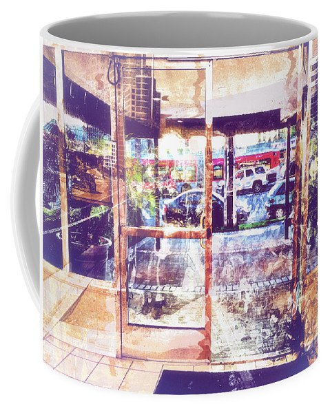 Urban Coffee Mug featuring the photograph Distressed City by Davy Cheng