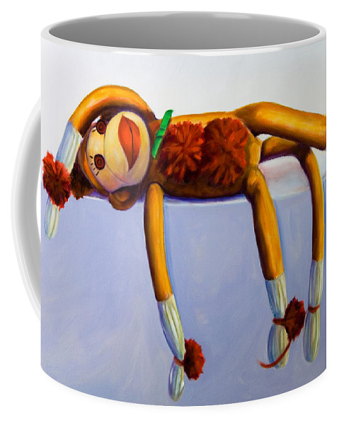 Diva Coffee Mug featuring the painting Diva Made Of Sockies by Shannon Grissom
