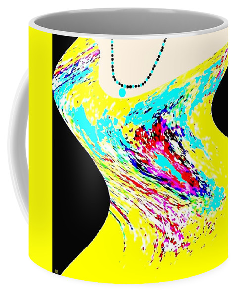Abstract Coffee Mug featuring the digital art Diva by Will Borden