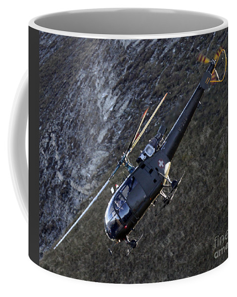 Helicopter Coffee Mug featuring the photograph Dive by Angel Ciesniarska