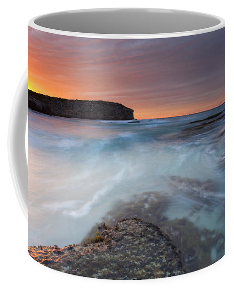 Dawn Coffee Mug featuring the photograph Divided Tides by Mike Dawson