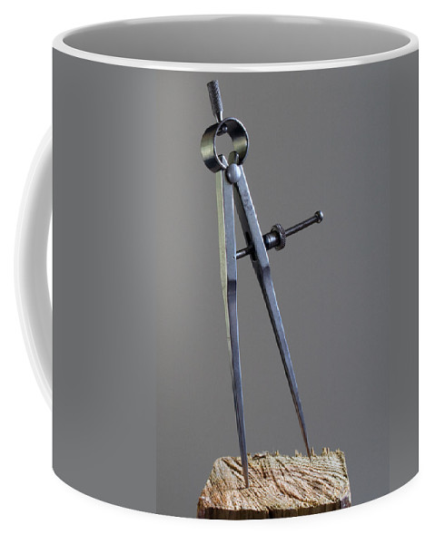 Divider; Divide; Measure; Dimension; Scale; Compass; Draft; Drafting; Draw; Drawing; Paper; Plans; B Coffee Mug featuring the photograph Divider by Allan Hughes