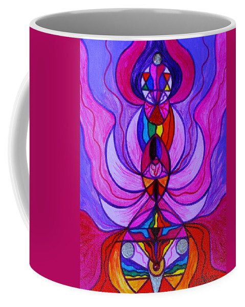 Divine Feminine Coffee Mug featuring the painting Divine Feminine Activation by Teal Eye Print Store