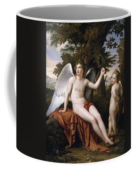 Jose De Madrazo Y Agudo Coffee Mug featuring the painting Divine Love And Profane Love by Jose de Madrazo y Agudo