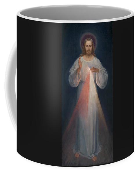 Eugene Kazimierowski Coffee Mug featuring the painting Divine Mercy by Eugene Kazimierowski