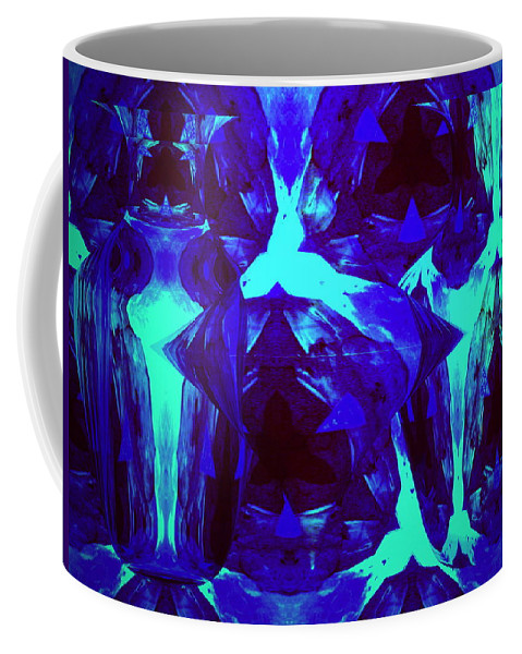 Abstract Coffee Mug featuring the photograph Division Of Light by Joyce Dickens